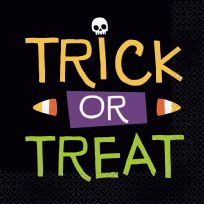 Skeleton Trick Or Treat Napkins (16)